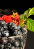 Raspberries, blueberries and blackberres Stock Photo
