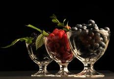 Raspberries, blueberries and blackberres Stock Photography