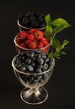 Raspberries, blueberries and blackberres Royalty Free Stock Photo