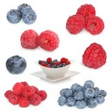 Raspberries and blueberries mix Royalty Free Stock Image