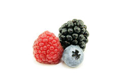 Raspberries, blueberry and blackberry Royalty Free Stock Images