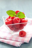 Raspberries in a bowl Royalty Free Stock Photos