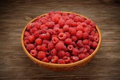 Raspberries in a bowl Stock Image