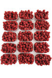 Raspberries in bowls, close-up Royalty Free Stock Photos
