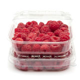 Raspberries in Box Stock Photo