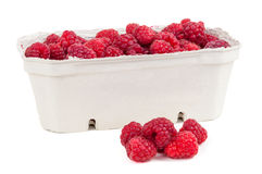 Raspberries in the box Royalty Free Stock Photos