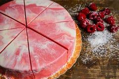 Raspberries cake Stock Photo