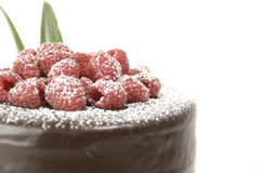 Raspberries chocolate cake Royalty Free Stock Image