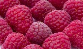 Raspberries close-up background Stock Photo