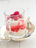 Raspberries with curd Royalty Free Stock Photo