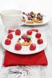 Raspberries dessert Stock Image