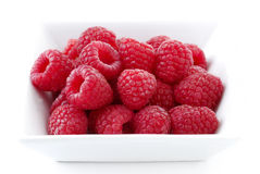 Raspberries in the dish. Ripe raspberries in the dish Royalty Free Stock Image