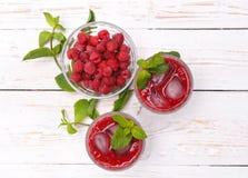 Raspberries drink. Stock Images
