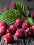 Raspberries fresh organic summer food. Healthy Stock Photos