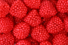 Raspberries fruit jelly. Close up Stock Photo