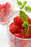 Raspberries in glass Royalty Free Stock Photos