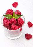 Raspberries in the glass Stock Image