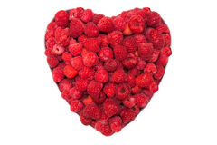 Raspberries in heart shape Royalty Free Stock Image