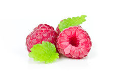 Raspberries isolated Royalty Free Stock Images
