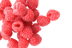 Raspberries isolated Stock Photo