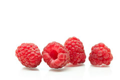 Raspberries isolated on white Royalty Free Stock Photo
