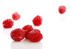 Raspberries isolated Royalty Free Stock Photography