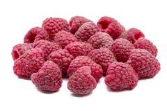 Raspberries isolated on white background Royalty Free Stock Photos