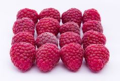 Raspberries isolated on white background Royalty Free Stock Photography