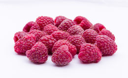 Raspberries isolated on white background Royalty Free Stock Image