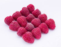 Raspberries isolated on white background Stock Photography