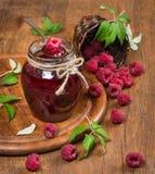 Raspberries jam. Royalty Free Stock Photography