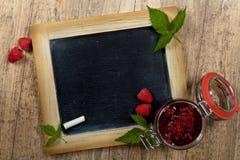 Raspberries jam Stock Images
