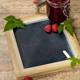 Raspberries jam Stock Photography