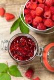 Raspberries jam. Selective focus. Stock Photography