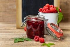 Raspberries jam. Selective focus. Stock Photo