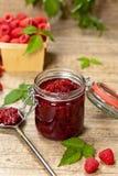 Raspberries jam. Selective focus. Stock Photos