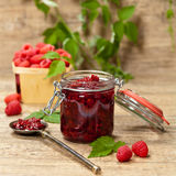Raspberries jam. Selective focus. Stock Images