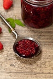 Raspberries jam. Selective focus. Royalty Free Stock Images