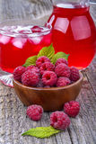 Raspberries juice royalty free stock image