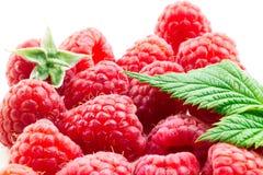 Ripe raspberry on a white background. Ripe raspberry on a white Stock Photo