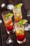 Raspberries lemonchello shots Royalty Free Stock Images