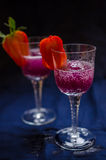 Raspberries and lychee sorbet Stock Image