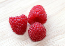 Raspberries, macro. Royalty Free Stock Photos