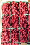 Raspberries. Market in Nyons, Rhone-Alpes, France Royalty Free Stock Photo