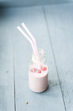 Raspberries milkshake Royalty Free Stock Image