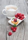 Raspberries mini cake Royalty Free Stock Image