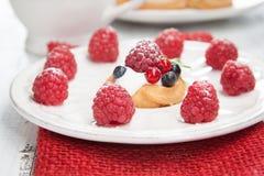 Raspberries mini cake Royalty Free Stock Images