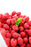 Raspberries with mint Royalty Free Stock Photo