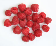 Raspberries; Objects on white background Royalty Free Stock Photography