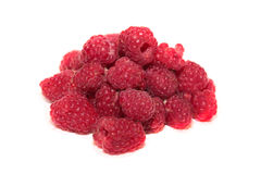 Raspberries over white background.  Royalty Free Stock Image